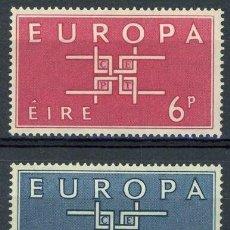 Sellos: IRLANDA 1963 IVERT 159/60 ** EUROPA. Lote 289325358