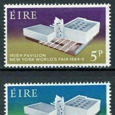 Sellos: IRLANDA 1964 IVERT 165/6 ** EXPOSICIÓN INTERNACIONAL EN NUEVA YORK. Lote 289325738