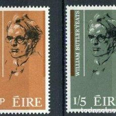Sellos: IRLANDA 1965 IVERT 171/2 ** CENTENARIO DEL NACIMIENTO DEL POETA WILLIAM BUTTER YEATS. Lote 289326128