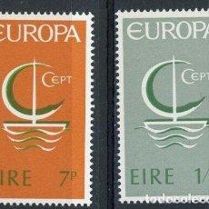 Sellos: IRLANDA 1966 IVERT 187/8 ** EUROPA. Lote 289326338