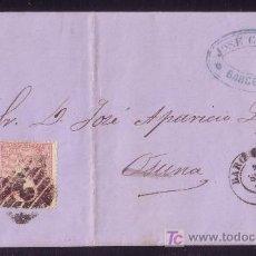 Sellos: ESPAÑA. (CAT. 80). 1866. CARTA DE BARCELONA A OSUNA. 2 CTOS. FRANQUEO DE IMPRESOS. RARÍSIMA. BONITA.. Lote 24169440