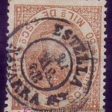 Sellos: ESPAÑA. (CAT. 96). 50 MLS. MAT. FECHADOR TIPO II DE * ESTELLA/NAVARRA *. LUJO.. Lote 25213242