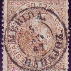 Sellos: ESPAÑA. (CAT. 96). 50 MLS. MAT. FECHADOR TIPO II DE * MÉRIDA/BADAJOZ *. MAGNÍFICO.. Lote 23081009