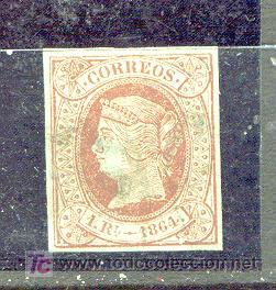 1 REAL ISABEL II AÑO 1864. BONITOS MÁRGENES. ES EL NÚMERO 67 DEL CATÁLOGO EDIFIL. (Sellos - España - Isabel II de 1.850 a 1.869 - Usados)