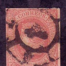 Sellos: CORUÑA.- MATASELLO PARRILLA NUMERADA DE CORUÑA SOBRE SELLO ISABEL II Nº 64 . . Lote 13245742