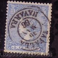 Sellos: NAVARRA.- MATASELLO FECHADOR TIPO II DE TAFALLA SOBRE SELLO DE ISABEL II Nº 81 . Lote 33969060