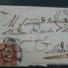 Sellos: ESPAÑA (CAT. 40) CARTA POSTAL CIRCULADA DE BARCELONA A MADRID CON MATASELLOS DE RUEDA DE CARRETA. Lote 26447144
