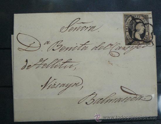 ESPAÑA (CAT. 6) CARTA CIRCULADA DE VEJORIS A VALMASEDA VIZCAYA . PRECIOSA (Sellos - España - Isabel II de 1.850 a 1.869 - Cartas)