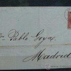 Sellos: ESPAÑA (1855) CARTA CIRCULADA DE DENIA (ALICANTE) A MADRID CON MATASELLOS DE COLOR NEGRO. Lote 26498051
