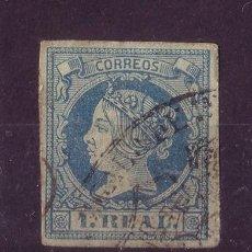 Sellos: ESPAÑA 55 - AÑO 1861 - ISABEL II. Lote 23692874