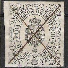 Sellos: 3062-SELLO CLASICO ISABEL II ,AÑO 1868.PARA LIBROS DE COMERCIO 60 MILESIMAS DE ESCUDO,ADHESIVO. Lote 19562006