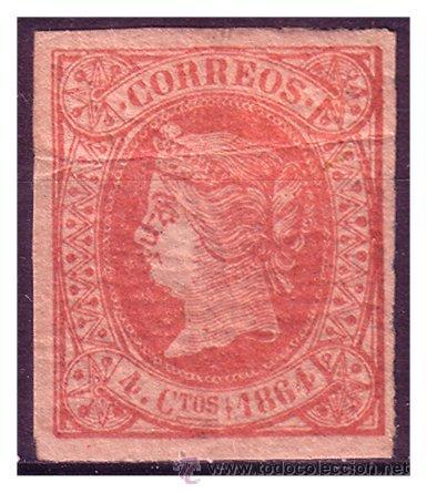 1864 ISABEL II, EDIFIL Nº 64 * (Sellos - España - Isabel II de 1.850 a 1.869 - Usados)