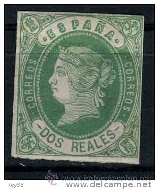 ISABEL II, 1862, 2 REALES VERDE* (Sellos - España - Isabel II de 1.850 a 1.869 - Nuevos)