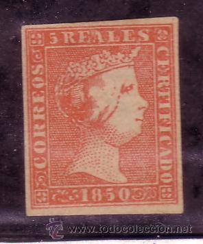 ESPAÑA.- SELLO Nº 3 FALSO FILATELICO. (Sellos - España - Isabel II de 1.850 a 1.869 - Nuevos)