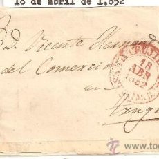 Sellos: CUBIERTA O FRONTAL DE CARTA CLÁSICA. CARTERÍA DE TRUJILLO (CÁCERES). Lote 26268286