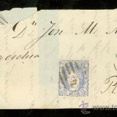 Sellos: CARTA DE CORUÑA A RIVADEO.. Lote 26063043