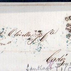 Sellos: CARTA DE SANTIAGO (CORUÑA) A CADIZ.. Lote 26103788