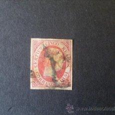 Sellos: ESPAÑA,1851,EDIFIL 9,ISABEL II,MATASELLO ARAÑA NEGRA,BUENOS MARGENES. Lote 26505040