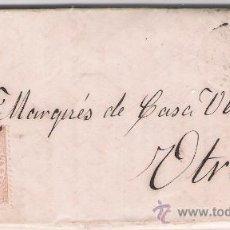 Sellos: CARTA DE SEVILLA A UTRERA,DE AGOSTO DE 1867. FRANQUEADO CON SELLO 96,PARRILLA Y FECHADOR NEGRO.. Lote 26668814