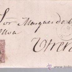 Sellos: CARTA DE SEVILLA A UTRERA.DE OCTUBRE 1869. FRANQUEADO CON SELLO 98.PARRILLA Y FECHADOR NEGRO.. Lote 26668927