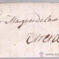 Sellos: CARTA DE SEVILLA A UTRERA. DE 14-ENERO 1863.FRANQUEADO CON SELLO 57. Y FECHADOR NEGRO.. Lote 26689471