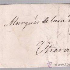 Sellos: CARTA DE SEVILLA A UTRERA. DE 19-JUNIO-1864. FRANQUEADO CON SELLO 64 Y FECHADOR NEGRO.. Lote 26689772