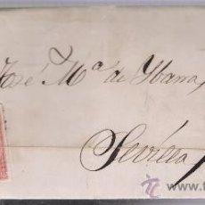 Sellos: CARTA DE TRUJILLO A SEVILLA. DE 21 SET. 1857. FRANQUEADO CON SELLO 48,MATASELLO PARRILLA Y FECHADOR . Lote 26710310