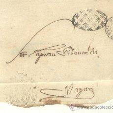 Sellos: 1868 ISABEL II CUBA PLICA CON FRANQUICIA DE HOLGUIN A MAYARI RRR . Lote 26770602
