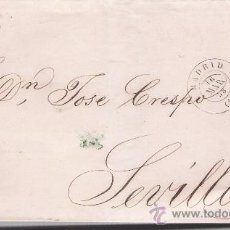 Sellos: CARTA DE MADRID A SEVIILA. DE 16 DE MARZO DE 1858.FRANQUEADO CON SELLO 48,MATASELLO PARRILLA Y FE-. Lote 26817399