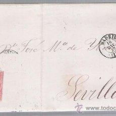 Sellos: CARTA DE MADRID A SEVILLA.DE 16 DICIEM.1857.FRANQUEADO CON EL SELLO 48,MATASELLO PARRILLA Y FECHA-. Lote 26844518