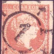 Sellos: ESPAÑA. (CAT. 48). 4 CTOS. MAT. R. DE C. Nº 1 MADRID. VARIEDAD CLICHÉ MUY DEFECTUOSO. RARO.. Lote 26981984