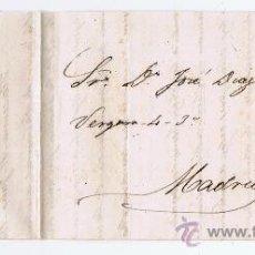 Sellos: CIRCULADO 1862 DE PLASENCIA A MADRID COMUNICANDO PAGO DE 18.000 REALES DE VELLÓN. Lote 27312235