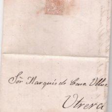 Sellos: CARTA DE SEVILLA A UTRERA. DE JUNIO DE 1868. FRANQUEADO CON SELLO 98.. Lote 27381697