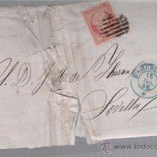 Sellos: CARTA DE BARCELONA A SEVILLA. DE 15 JULIO 1856. FRANQUEADO CON SELLO 48,MATASELLO PARRILLA Y FECHA-. Lote 27402996