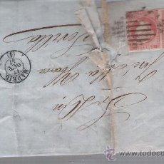 Sellos: CARTA DE MADRID A SEVILLA. DE 17 OCTUBRE 1857. FRANQUEADO CON PAREJA DE SELLOS 48,MATASELLOS PA-. Lote 27403454