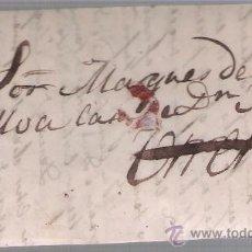Sellos: CARTA DE SEVILLA A UTRERA DE AGOSTO DE 1863. CON MARCA DE PORTEO EN ROJO.SIN FRANQUEO.. Lote 27403735