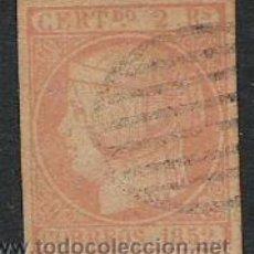 Stamps - 1276-SELLO CLASICO ESPAÑA ISABEL II 1852.USADO Nº 13. 2 REALES ,FALSO,USADO - 28352972