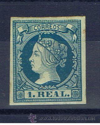 ISABEL II 1860 EDIFIL 55 NUEVO(*) VALOR 2010 CATALOGO 360 EUROS (Sellos - España - Isabel II de 1.850 a 1.869 - Nuevos)