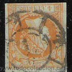Sellos: 3263-SELLO Nº 52 CLASICO ISABEL II MATASELLOS RUEDA DE CARRETA Nº1.MADRID,DEFINIDO. Lote 29054242