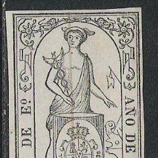 Sellos: 1881-SELLO FISCAL LIBROS COMERCIO 1866 6 C DE ESCUDO.MERCURIO ,PARA LIBROS DE COMERCIO,SPAIN REVENUE. Lote 29197316
