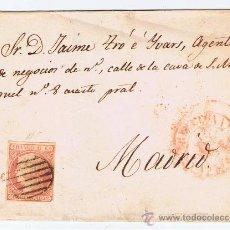 Sellos: ENVUELTA CIRCULADA 1852 ? DE BARCELONA A MADRID CON ISABEL II EDIFIL 12. Lote 29324570