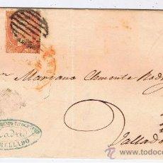 Sellos: CIRCULADA I ESCRITA 1852 DE MADRID A VALLADOLID CON ISABEL II EDIFIL 12. Lote 29345543
