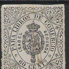 Sellos: 1857-SELLO FISCAL ISABEL II AÑO 1865 LIBROS COMERCIO . Lote 29440286