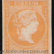 Francobolli: 1856-SELLO CLASICO ISABEL II AÑO 1856 12 CUARTOS AMARILLO NARANJA. Lote 30121435