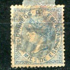 Sellos: EDIFIL 97. 25 MILÉSIMAS ISABEL II. AÑO 1868. USADO. CON 2 PUNTOS DE AGUJA.. Lote 30191288