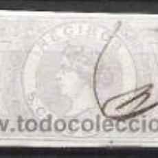Sellos: 882-SELLO CLASICO ISABEL II PARA RECIBOS FISCAL 5 CENTIMOS DE ESCUDO 1865,BONITO. Lote 30492527
