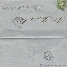 Sellos: CARTA DE 1860 DE CUBA A PALMA DE MALLORCA CON SELLO 1 REAL DE PLATA . Lote 31164792