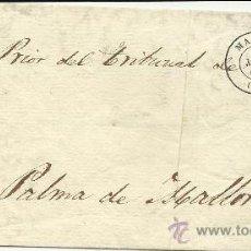 Sellos: MAGNIFICO FRONTAL DE 1864 CON SELLOS DE ESCUDO DE ESPAÑA Y MINISTERIO DE GRACIA Y JUSTICIA. Lote 31164845