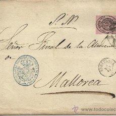 Sellos: CARTA DE 1860 CON DOS VALORES DEL ESCUDO DE ESPAÑA . Lote 31164859