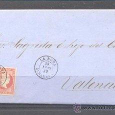 Sellos: 1859.- LA RODA (ALBACETE) A VALENCIA. Lote 31663334